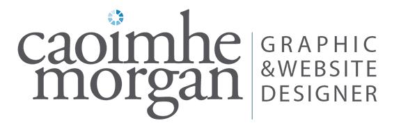 Caoimhe Morgan Website Design and Graphic Design