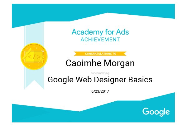 Google Web Designer Basics Certification